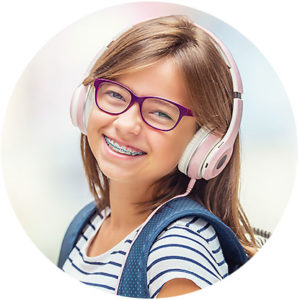girl braces smiling